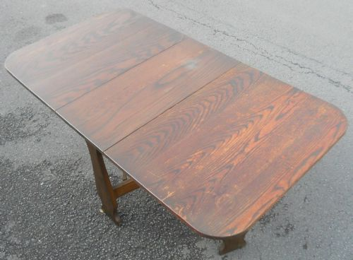 Solid Oak Dropleaf Dining Table